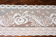 "Vintage White Lace Bow Window Valance Kitchen Flower Floral Decor 58""x11.5"" in Kingwood, Texas"
