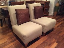 Matching Pair Slipper Chairs w/ Pillows- New Price in Beaufort, South Carolina