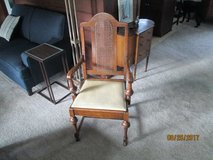 Vintage cane back dinning room chair in Yorkville, Illinois