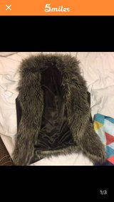 women's grey faux fur vest, S in Little Rock, Arkansas