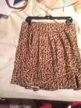 women's cheetah print pleaded skirt, L in Little Rock, Arkansas