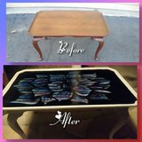 Hand painted coffee table in 29 Palms, California