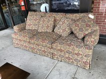 Patterned sofa in Naperville, Illinois