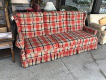Red and Blue Sofa in Bartlett, Illinois