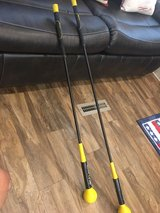 Used SKLZ gold flex golf swing strength and flexibility trainers. 48 and 40 inch. in Gainesville, Georgia