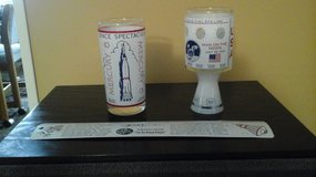 Vintage NASA Mercury 6 & Apollo 11 Drinking Glasses & Space History Ruler in Bolingbrook, Illinois