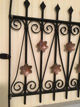 Black Wrought Iron Fence Gate in Shaw AFB, South Carolina