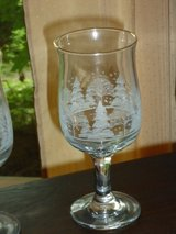10 winter scene wine glasses in Oswego, Illinois