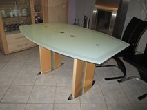 modern table with glass top in Ramstein, Germany