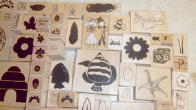 Over 200 new wooden rubber stamps - Several different themes - Wedding - Easter & many more in Alamogordo, New Mexico