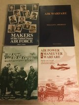 4 Air Force  books (1 new in plastic by frisbee) in Okinawa, Japan