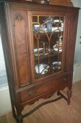 Antique China Cabinet ( tiger wood ) in Charleston, West Virginia