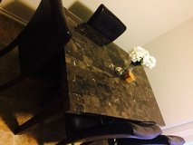 Authentic marble top & 4leather chairs in San Diego, California