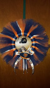 Chicago Bears football handmade tulle wreath in Aurora, Illinois