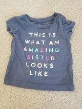 Amazing Sister Shirt size 3M in Fairfield, California