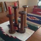 Spool candle sticks in Alamogordo, New Mexico