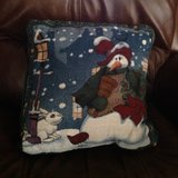 Fun snowman pillow in Alamogordo, New Mexico