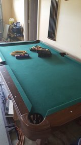 Pool table and new accessories in Fort Benning, Georgia