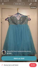 Beautiful Homecoming gown in Biloxi, Mississippi