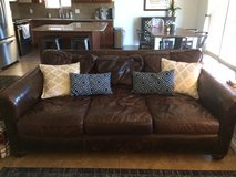 Restoration Hardware Lancaster Leather Couch in Yuma, Arizona