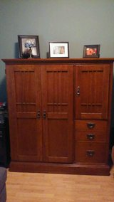 OAK OFFICE DESK ARMOIRE in Sugar Grove, Illinois