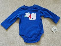 NEW 0-3 month blue long sleeve onesie with bear in Naperville, Illinois