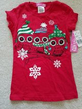 NEW Girl's size 4/5 red Xmas top with owls in Naperville, Illinois