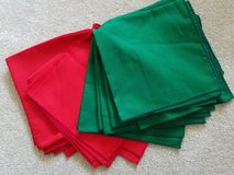 Red & Green cloth napkins in Naperville, Illinois