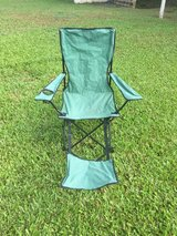 Camp chair with leg rest in Okinawa, Japan