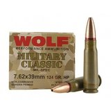 WOLF Military Classic 7.62x39mm ammo in Camp Lejeune, North Carolina