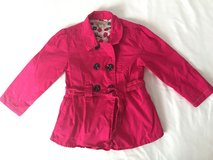 Fuchsia Double Breasted Coat Size 3/4T in Ramstein, Germany
