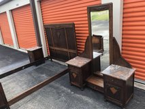 Oak Bedroom Set 1800's/Early 1900's from Belguim 5 Piece in Camp Lejeune, North Carolina