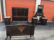 4 Piece Oak Bedroom Set 1800's/Early 1900's from Belguim in Cherry Point, North Carolina