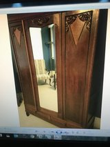 2 Piece Oak Bedroom Set 1800's/Early 1900's from Belguim in Cherry Point, North Carolina