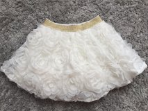 Children's Place White Skirt w/ Gold Waist Band Size 18-24m in Ramstein, Germany