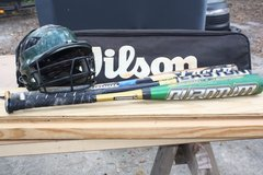 Baseball Bats and Helmet with bag in Beaufort, South Carolina