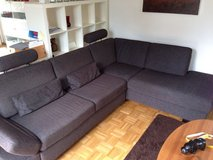 Brown Sofa with Ottoman Chair in Wiesbaden, GE