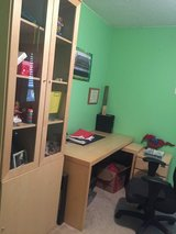 Desk and book cabinet in Fort Campbell, Kentucky