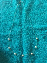 Delicate gold and pearl necklace in Elizabethtown, Kentucky