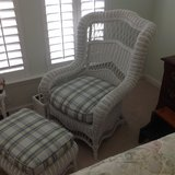 Wicker Chair & Ottoman Plus Extras Reduced!! in Beaufort, South Carolina