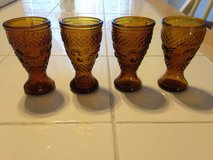 Small Amber glasses set of 4 in Warner Robins, Georgia
