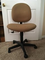 Well Loved Tan - Beige Swivel and Adjustable Height Office Chair in Camp Lejeune, North Carolina