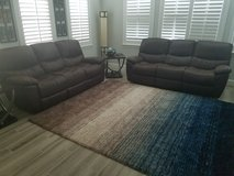 2 electric reclining sofas (1 month old) in Temecula, California