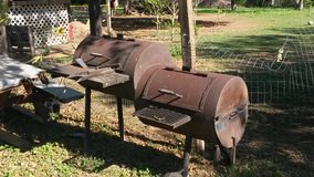 Metal BBQ in Lackland AFB, Texas