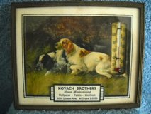 1940 Thermometer Add Kovack Bros Pictures-Hunting Dogs In Picture Frame Vintage in Lake Elsinore, California