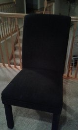 Home Decor- --Dining room/  DESK / OFFICE CHAIR,  BLACK Fabric in Yorkville, Illinois