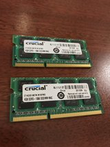 Crucial ddr3 8gb (4gb x 2) ram 204 pin for Mac in Oceanside, California