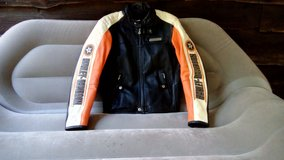 Harley Davidson Men's Rapid City Colorblocked leather coat size M GREAT FOR FALL in Fort Drum, New York
