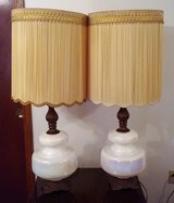 Pearl Iridescent Table Lamps. $60.00 for the pair in Mobile, Alabama