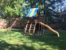 Rainbow swingset in Schaumburg, Illinois